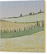 Tuscan Hillside Four Wood Print