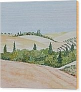 Tuscan Hillside One Wood Print