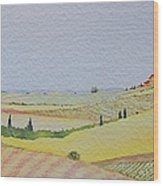 Tuscan Hillside Three Wood Print