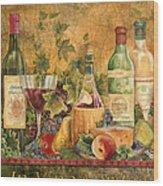 Tuscan In Vino Veritas Wood Print