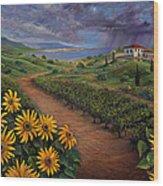 Tuscan Landscape Wood Print
