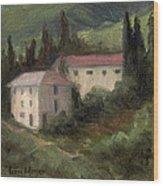 Tuscan Landscape II Wood Print