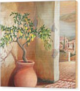 Tuscan Lemon Tree Wood Print