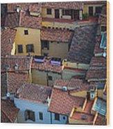 Tuscan Rooftops Wood Print