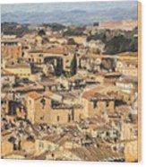 Tuscan Rooftops Siena Wood Print