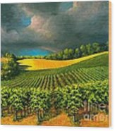 Tuscan Storm Wood Print by Michael Swanson