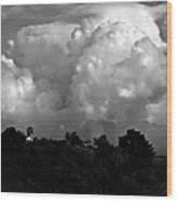 Tuscan Storm Rising From The Valley Wood Print