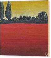 Tuscan Sunrise Wood Print