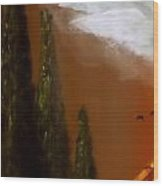 Tuscan Terra Cotta Wood Print