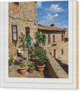 Tuscan Terrace Poster Wood Print