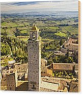 Tuscan Tower Wood Print