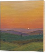 Tuscan Twilight 1 Wood Print