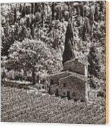 Tuscan Vinyard Wood Print