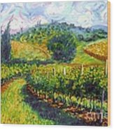 Tuscan Wind Wood Print by Michael Swanson
