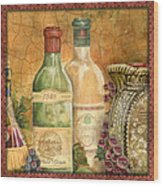 Tuscan Wine-a Wood Print