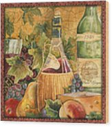 Tuscan Wine-c Wood Print