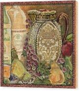 Tuscan Wine-d Wood Print