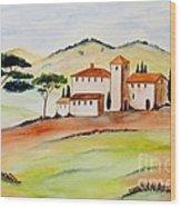 Tuscany-again And Again Wood Print