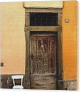 Tuscany Chair With Door Wood Print