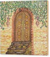 Tuscany Door Wood Print