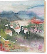 Tuscany Landscape 01 Wood Print