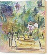 Tuscany Landscape 05 Wood Print