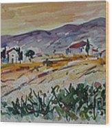 Tuscany Landscape 1 Wood Print