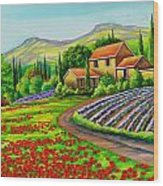 Tuscany Lavender  Wood Print