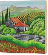 Tuscany Poppies Wood Print