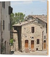 Tuscany Street Wood Print