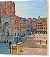 Tuscany Town Center Wood Print