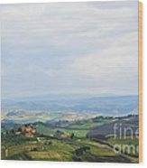 Tuscany's Special Light Wood Print