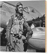 Tuskegee Airman Wood Print