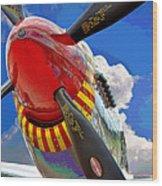 Tuskegee Airmen Fighter Plane Wood Print