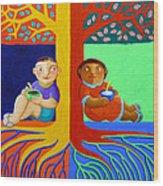 Tutong Tree Wood Print by Paul Hilario