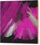 Tutu Stage Left Abstract Fuchsia Wood Print