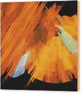 Tutu Stage Left Abstract Orange Wood Print