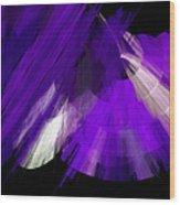 Tutu Stage Left Abstract Purple Wood Print