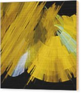 Tutu Stage Left Abstract Yellow Wood Print