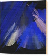 Tutu Stage Left Blue Abstract Wood Print