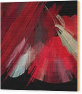 Tutu Stage Left Red Abstract Wood Print