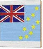 Tuvalu Flag Wood Print