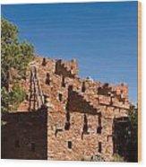 Tuzigoot Native American Ruins Arizona 1 Wood Print