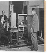 Tv Demonstration At Bell Labs Wood Print
