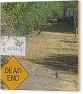 Tv Movie Homage Killer Bees 1974 B's Crossing Black Canyon City Arizona 2004 Wood Print