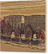 Twenty-mule Team In Sepia Wood Print