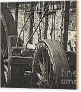 Twenty Mule Team Ore Wagon Wood Print