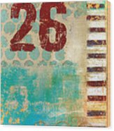Twenty-six Stripes Wood Print