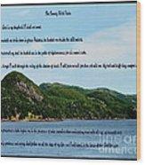 Twenty Third Psalm And Mountains Wood Print