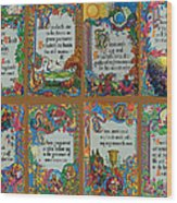 Twenty Third Psalm Collage Wood Print